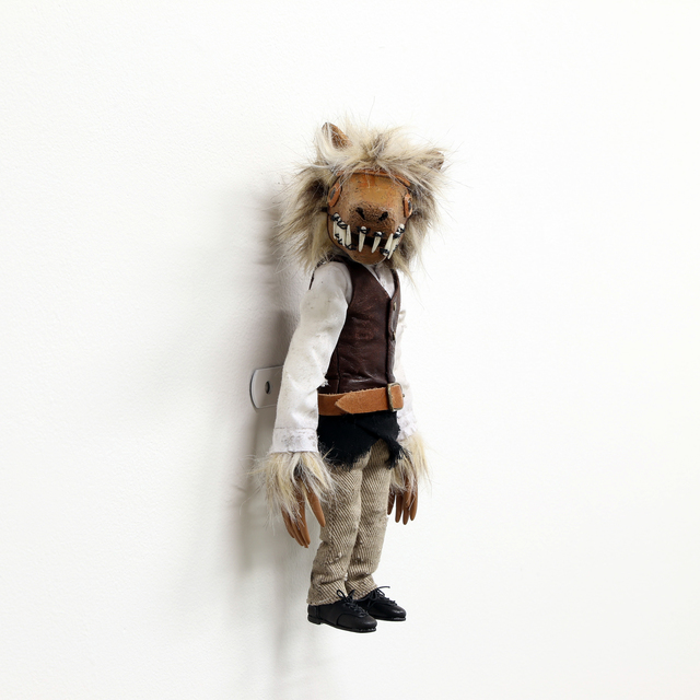 Tomoyasu Murata, 'Cloudy Wolf', 2014, Mixed Media, Brass, wood, wire, latex, cloth, cotton, fake fur,  leather, acrylic sphere, acrylic paint, GALLERY MoMo