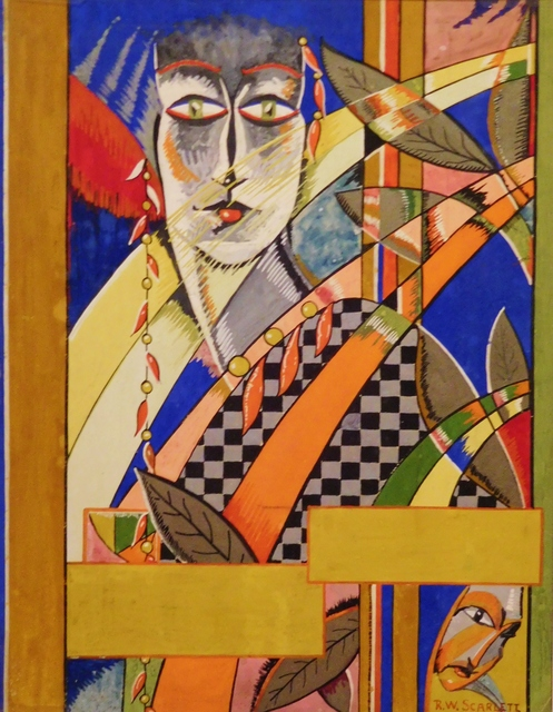 Rolph Scarlett, 'Art Deco Figure', ca. 1925, Painting, Gouache on cardboard, Lawrence Fine Art