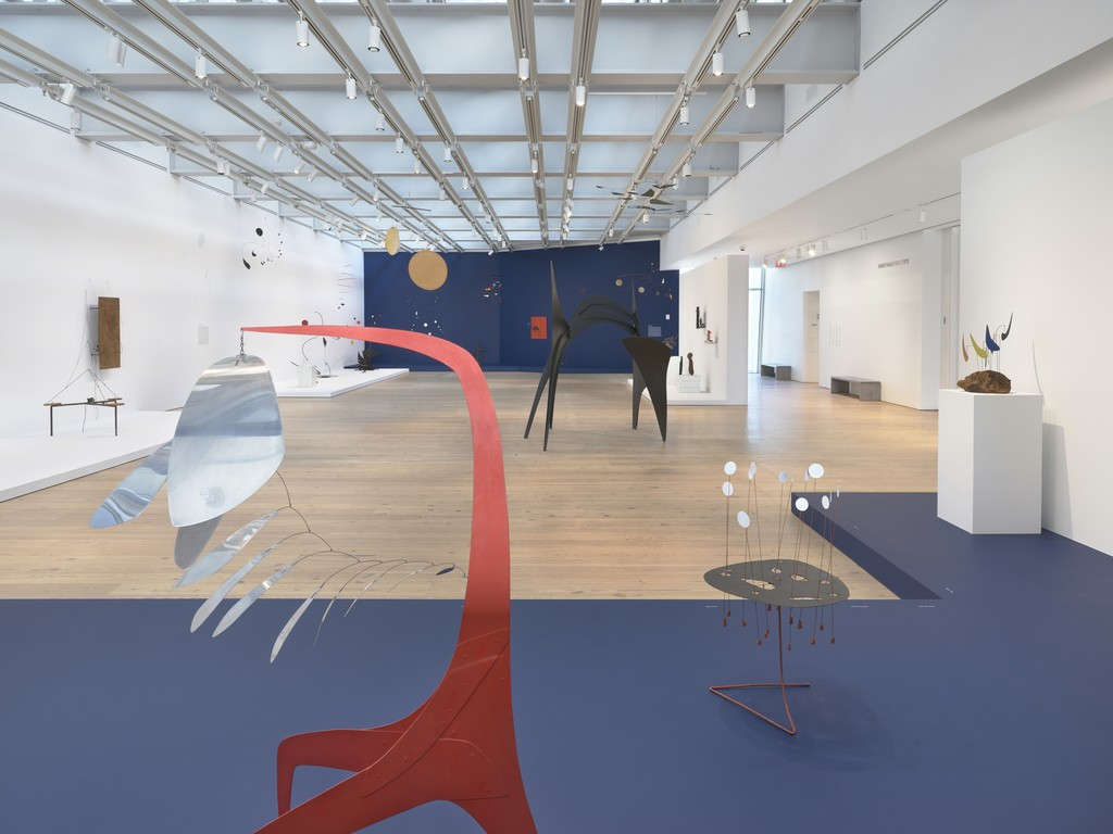 Installation view, Calder: Hypermobility, Whitney Museum of American Art, New York, 9 June–23 October 2017. Photo: Ron Amstutz. © 2017 Calder Foundation, New York/ Artists Rights Society (ARS), New York