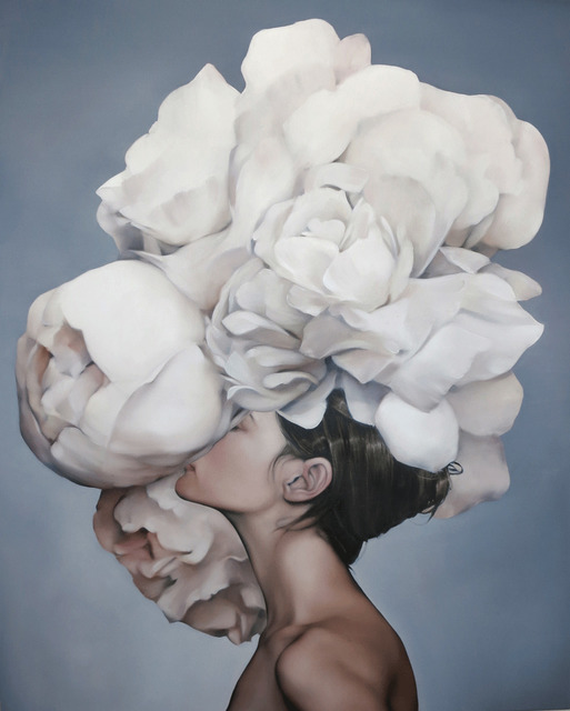 , 'Head in the Blooms,' 2018, Hicks Gallery