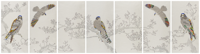 Cha Young Seok, 'An Elegant Endeavour_156', 2019, Drawing, Collage or other Work on Paper, Pencil, colour pen and watercolour on Korean mulberry paper, Leehwaik Gallery