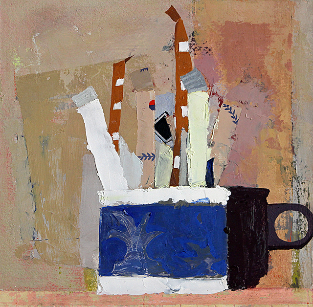 , 'Still Life with Sugar Packets and Cup #2,' 2015, Kathryn Markel Fine Arts