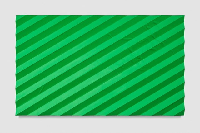 , 'Contemplation of Nature (Accordion Fold Light Green),' 2017, Almine Rech