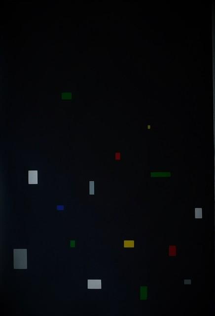 , 'El aumento de la linea en el espacio N.6 (sobre negro),' 2013, Magreen Gallery