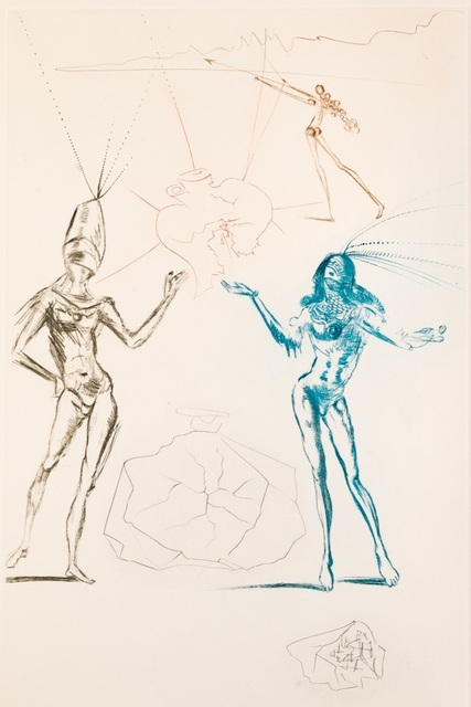 Salvador Dalí, 'Tristan and Iseult : The Lovers Condemned', 1970, Print, Etching on paper, Samhart Gallery
