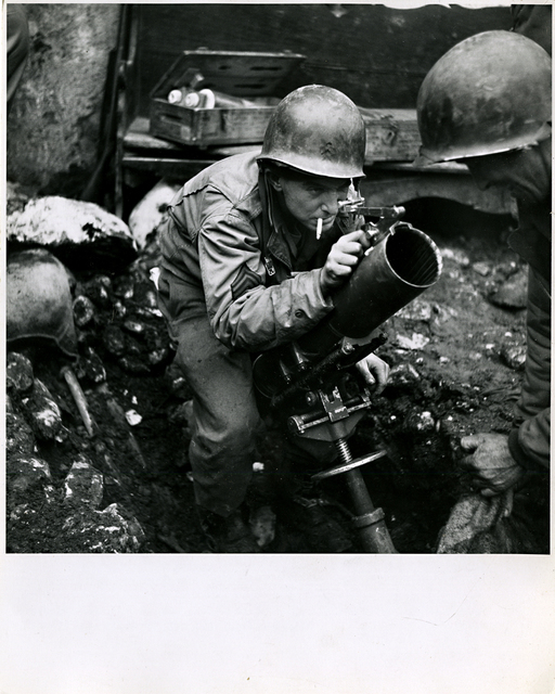 Robert Capa, 'American Soldier Mans a Mortar', 1940s-1962, Be-hold
