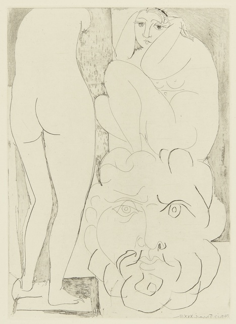 Pablo Picasso, 'Femme songeuse et inquiète dans l'atelier de sculpture (B. 188; Ba. 347)', Print, Etching, Sotheby's