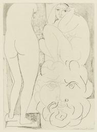 Femme songeuse et inquiète dans l'atelier de sculpture (B. 188; Ba. 347)