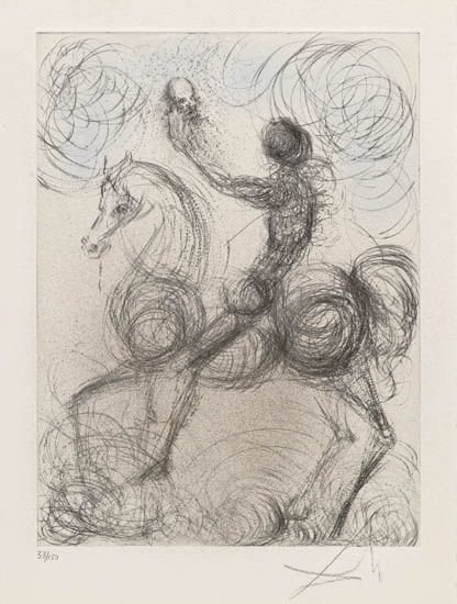 Salvador Dalí, 'Knight and Death', 1968, Galerie d'Orsay