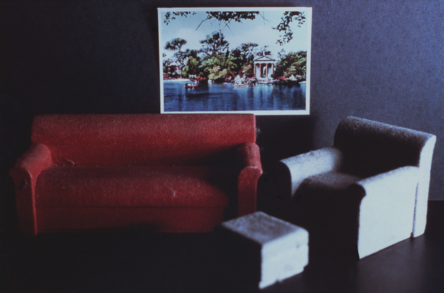 , 'Red Couch/ Gray Chair/ Broghese Garden,' 1979, Wilkinson