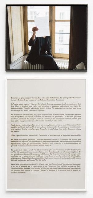 , 'Juge / Judge, X - Prenez soin de vous,' 2007, A3 Arndt Art Agency