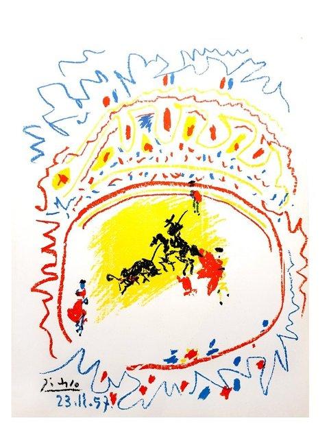 Pablo Picasso, 'Pablo Picasso - La Petite Corrida (The Small Bullfight) - Original Lithograph', 1958, Galerie Philia
