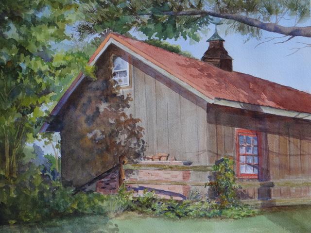 , 'Lewes Barn,' 2017, Peninsula Gallery
