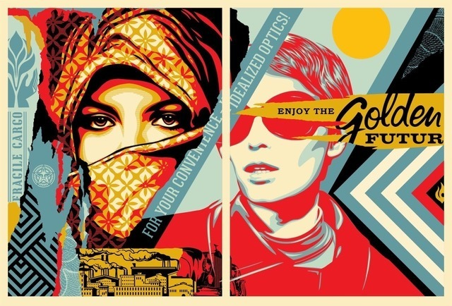 Shepard Fairey (OBEY), 'golden future for some set', 2017, Rudolf Budja Gallery