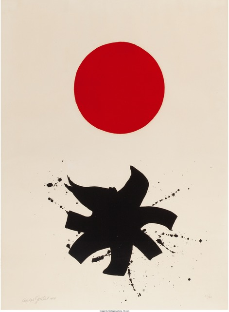 , 'White Ground Red Disk,' 1966, Gregg Shienbaum Fine Art
