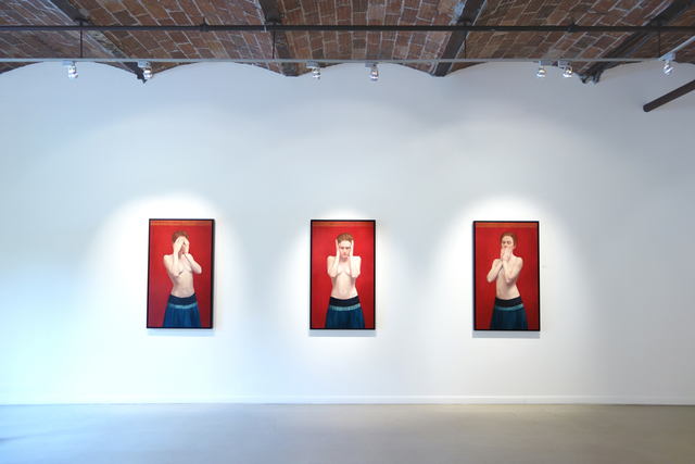 Sharon Sprung, 'See No Evil, Hear No Evil, Speak No Evil (Triptych)', 2013, Gallery Henoch