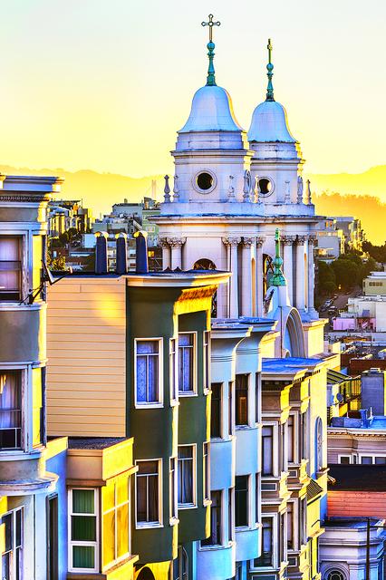 Mitchell Funk, 'San Francisco lemon yellow  light ', 2015, Robert Funk Fine Art