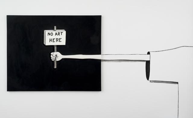 , 'No Art Here,' 2015, Castor Gallery