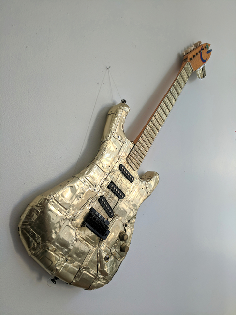 , 'Sardine Can Plated Guitar,' 2019, Emerge Gallery NY