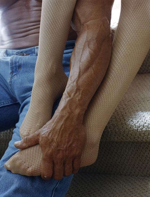 , 'Stockings, Jeans Carpeted Stairs ,' , Air de Paris