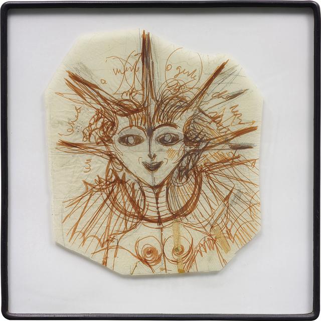 Gio Ponti, ''Diavolessa' preparatory drawing', 1970s, Phillips