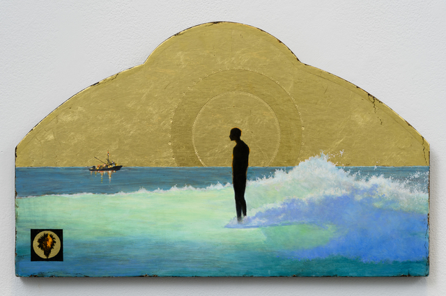 , 'Seascape with Figure (Right Slide),' 2017, Lora Schlesinger Gallery