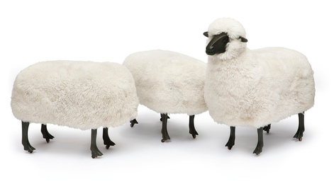 François-Xavier Lalanne, 'Moutons de Laine, A Sheep and Two Ottomans,' , Sotheby's: Contemporary Art Day Auction