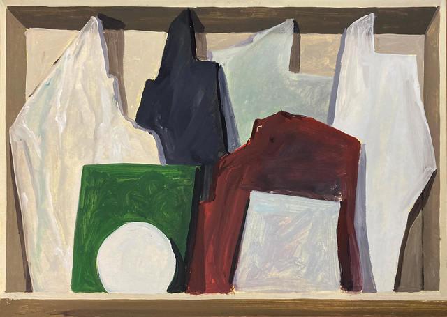 Gloria Martín Montaño, 'Cajón de mármoles I ', 2020, Painting, Oil on paper, Galería Silvestre