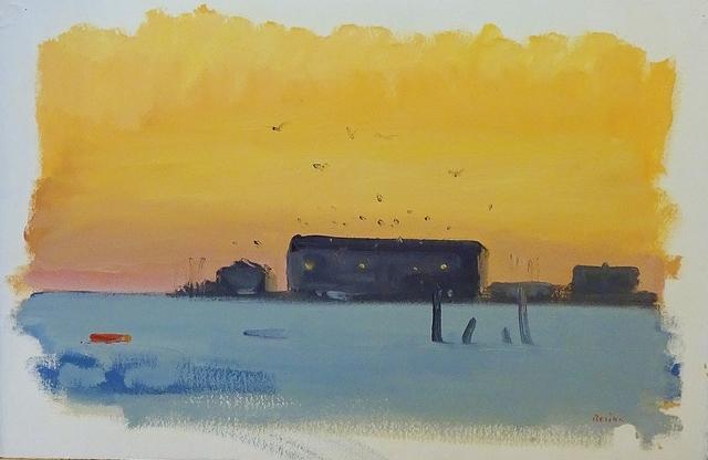 , 'Provincetown Pier, Slate Water,' 1984, Lawrence Fine Art
