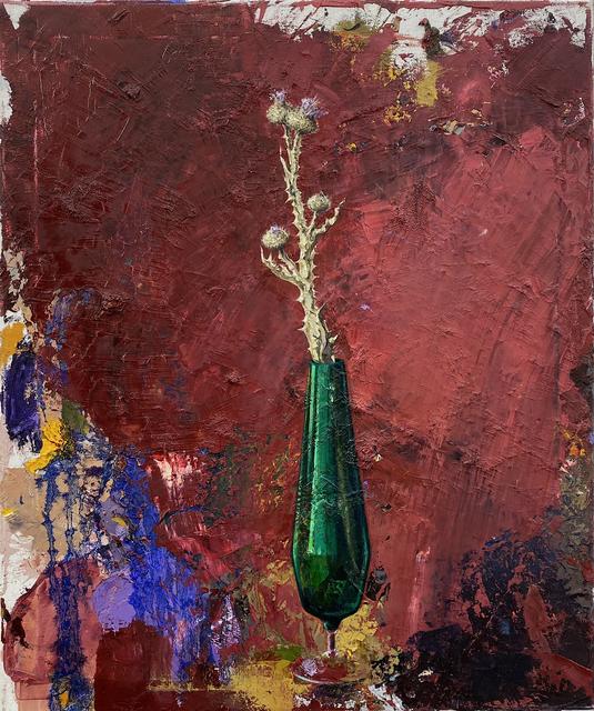 Katrin Brause a.k.a. Heichel, 'Vase mit Distel II', 2019, Josef Filipp Galerie