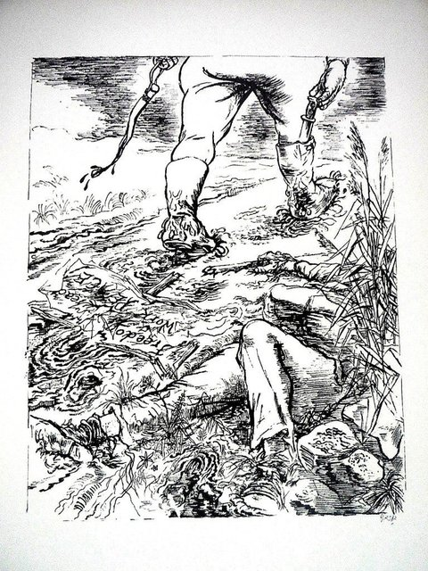 """George Grosz, '1936 Lithograph """"Freedom"""" small edition', 1936, Lions Gallery"""