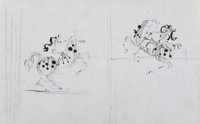 Salvador Dalí, 'Deux cavaliers', ca. 1938, HELENE BAILLY GALLERY