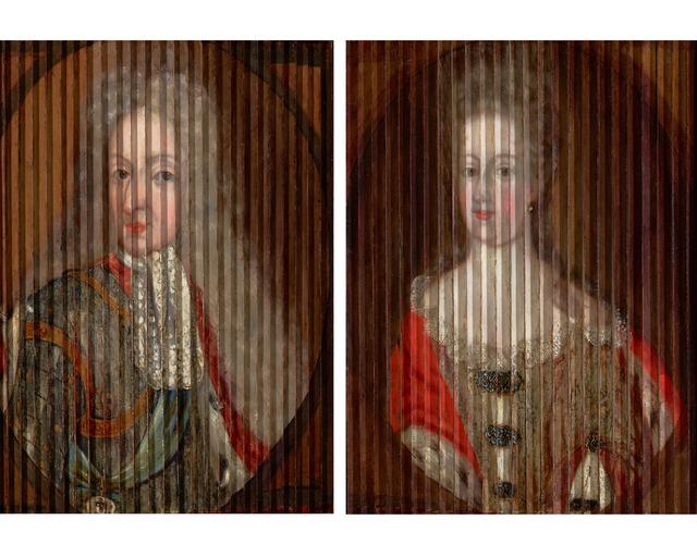 Gaspar Antoine de Bois-Clair, 'Double Portrait of King Frederik IV and Queen Louise of Mecklenburg-Güstrow of Denmark', ca. 1700, Painting, Oil on wood strips, laid on panel,  M.S. Rau
