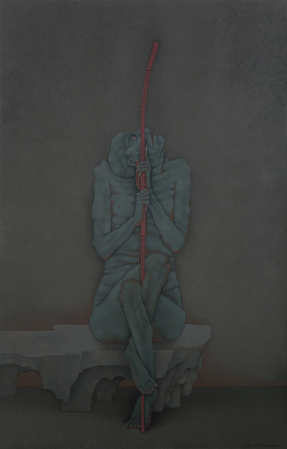 , 'Arhat Holding a Cane,' 2016, Galerie Urs Meile