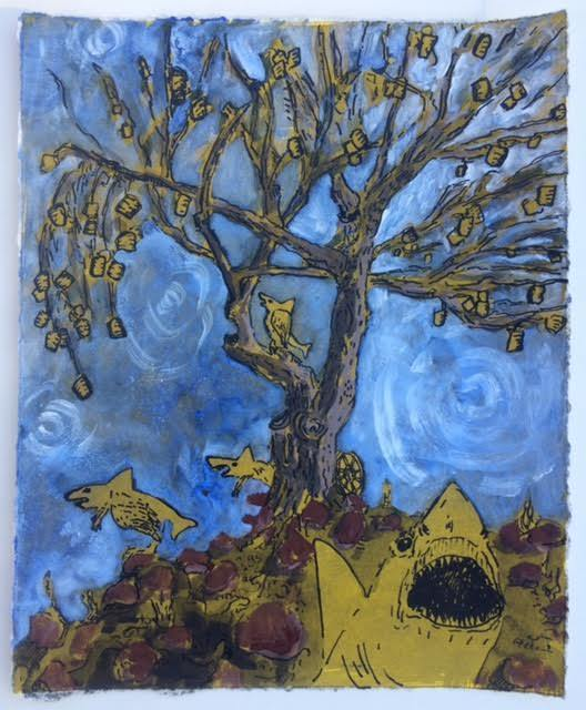 , 'Flying Sharkysauruses and the Fried Pie Tree,' , Ro2 Art