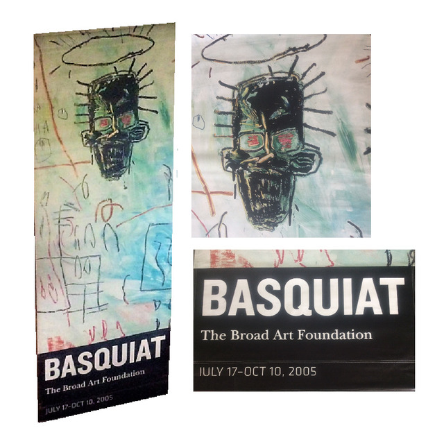 , ''BASQUIAT', LARGE Exhibition Advertising Banner, Broad Art Foundation L.A. (3 x 8 FEET ) ,' 2005, VINCE fine arts/ephemera