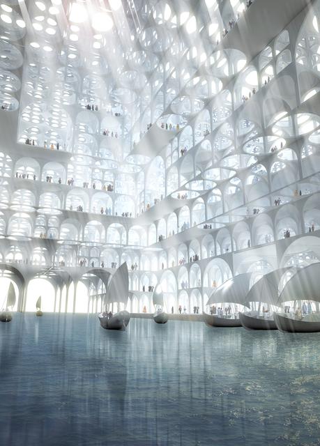 , 'Rendering, Souk Mirage / Particles of Light commercial building complex, concept master plan,' 2013, Cooper Hewitt, Smithsonian Design Museum