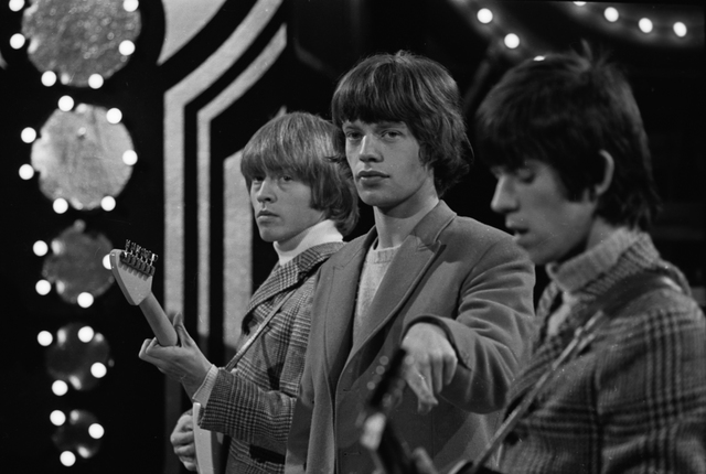 , 'Brian Jones, Mick Jagger and Keith Richards,' ca. 1963, Osborne Samuel