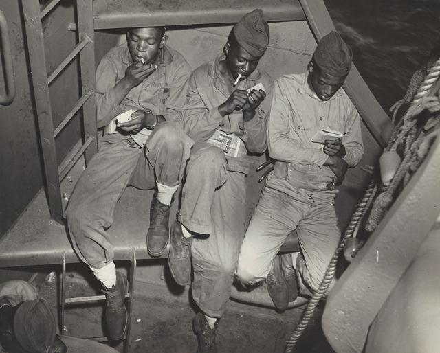 , 'Three Black Marines (WWII US Navy), ,' ca. 1940, Elizabeth Houston Gallery