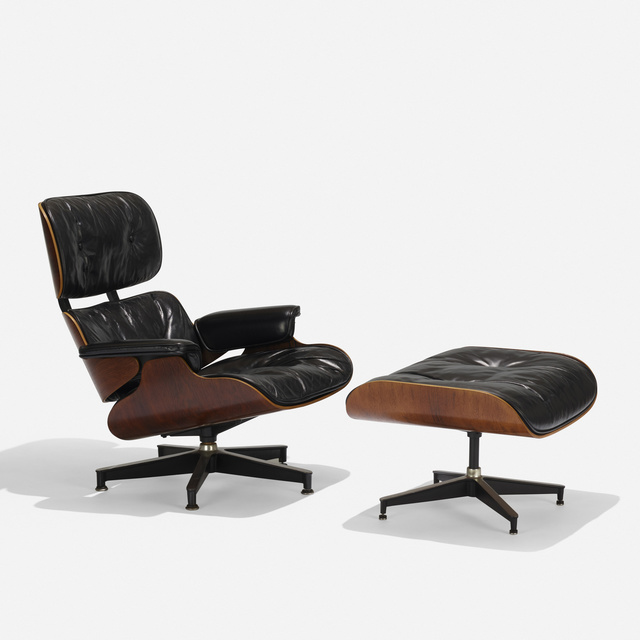 Charles and Ray Eames, '670 lounge chair and 671 ottoman', 1956, Wright
