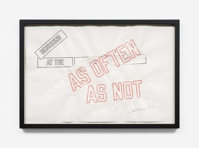 , 'BEGINNING AT THE END OF (AS OFTEN AS NOT),' 2017, Galerie Hubert Winter