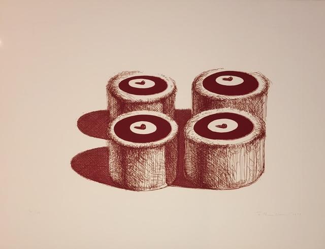 Wayne Thiebaud, 'Cherry Cakes (Recent Etchings II)', 1979, F.L. Braswell Fine Art