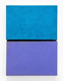 Blue and violet with black link