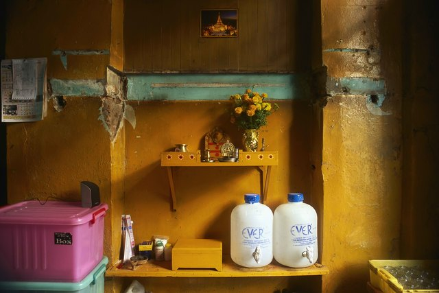 , '19_Still life with marigolds, Everwater  and restaurant glasses,' 2011, Art Vietnam Gallery