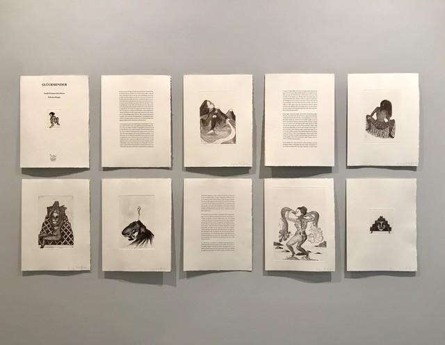 Salvatore Mazza, 'GLŰCKSKINDER Nine etchings of SANDRA VASQUEZ DE LA HORRA, with previously published text by FELICITAS HOPPE', 2016, Jason McCoy Gallery
