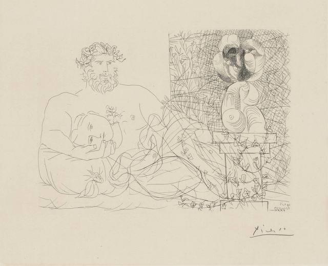 Pablo Picasso, 'LE REPOS DU SCULPTEUR ET LA SCULPTURE SURRÉALISTE (B. 169)', 1933, Doyle