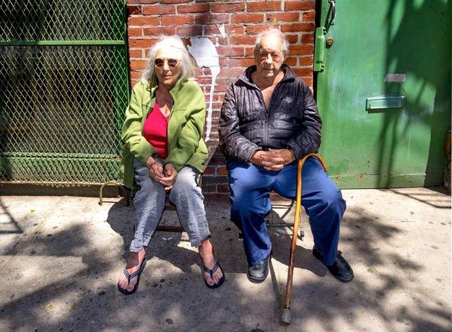 Hank O'Neal, 'Robert Frank and June Leaf on Bleecker Street', 2017, Upsilon Gallery
