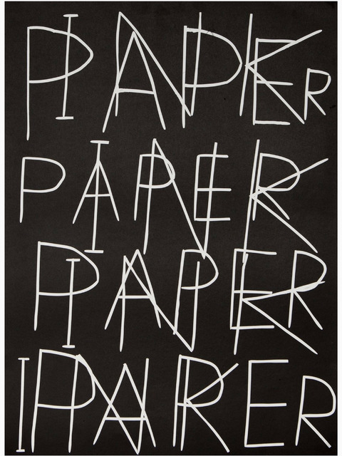 , 'Ink on Paper,' 2017, RAW Editions