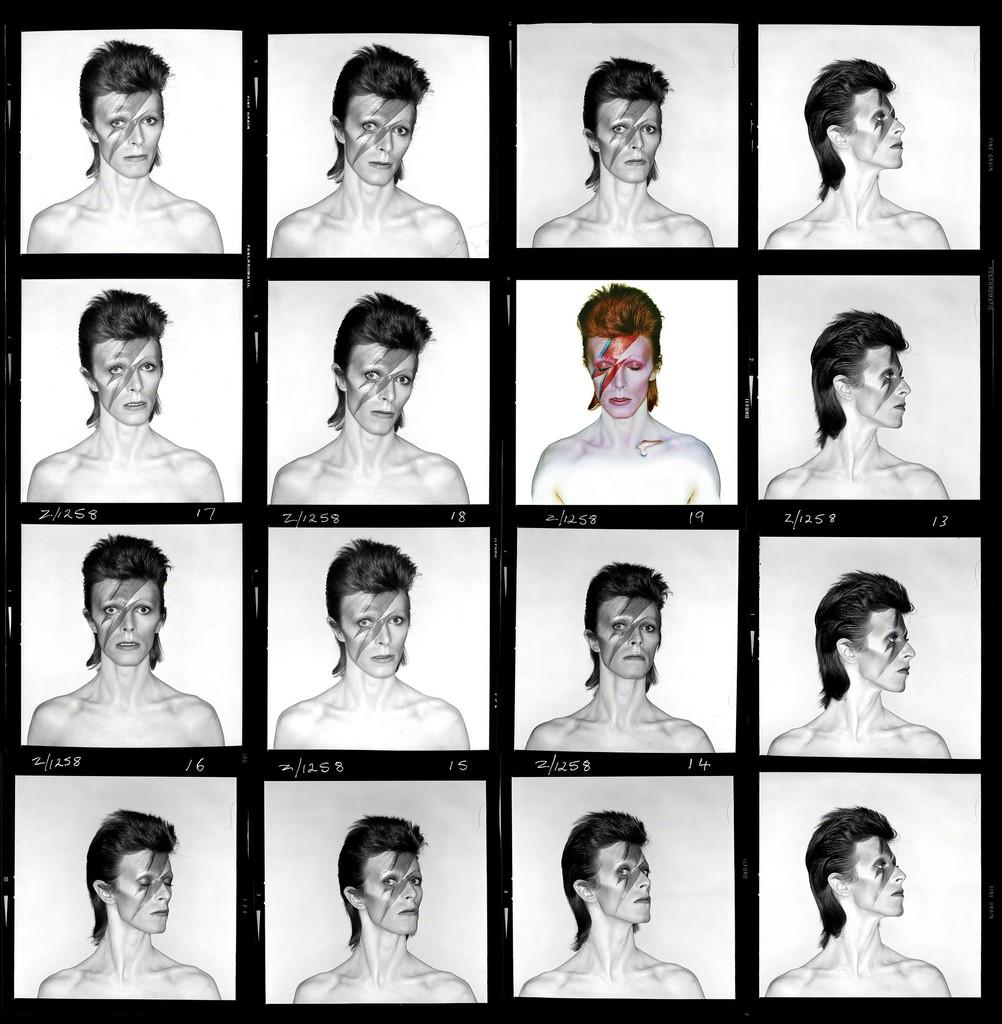 Brian Duffy, 'David Bowie. Aladdin Sane (Contact Sheet),' 1973, CAMERA WORK