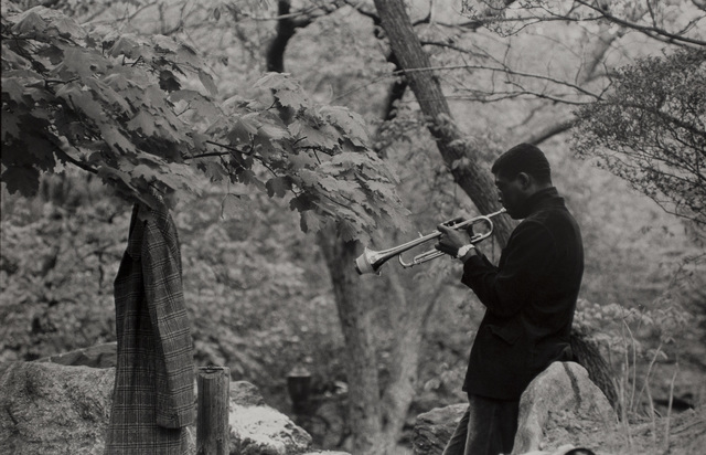 , 'Musician Practicing, Central Park,' 1956, Bruce Silverstein Gallery